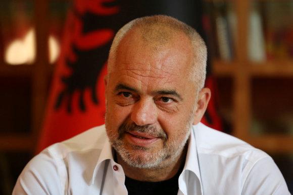 """""""Reuters""""/""""Scanpix"""" nuotr./Albanijos socialistas premjeras Edi Rama"""