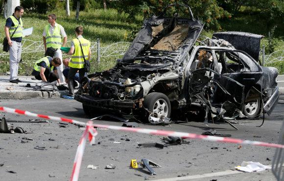 """""""Reuters""""/""""Scanpix"""" nuotr./Kijeve automobilio sprogimas pražudė aukšto rango žvalgybos pareigūną"""