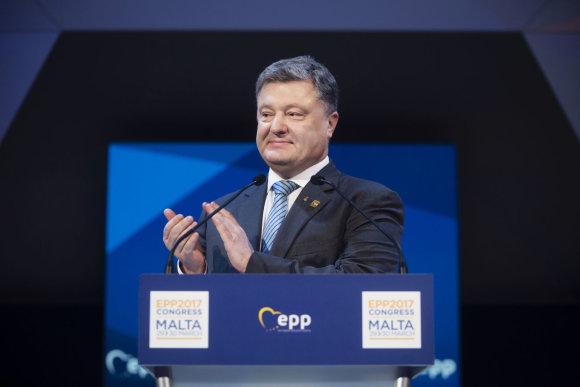 """Scanpix"" nuotr./Petro Porošenka Maltoje"
