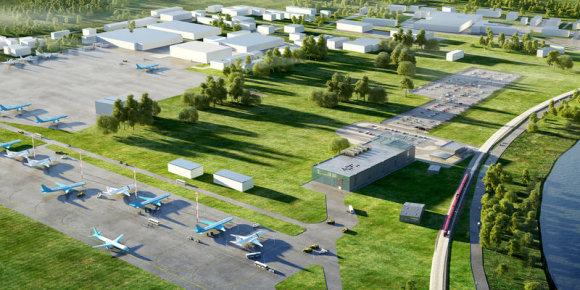 Romenskoje oro uosto vizualizacija