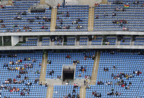 """""""Scanpix""""/AP nuotr./Tuščios arenos Rio arenose"""