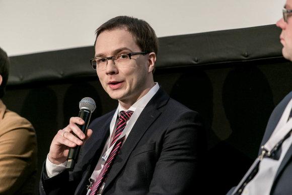 """Artūras Moisiejenko nuotr./""""Swedbank"""" Nekilnojamojo turto klientų skyriaus vadovas Martynas Trimonis"""
