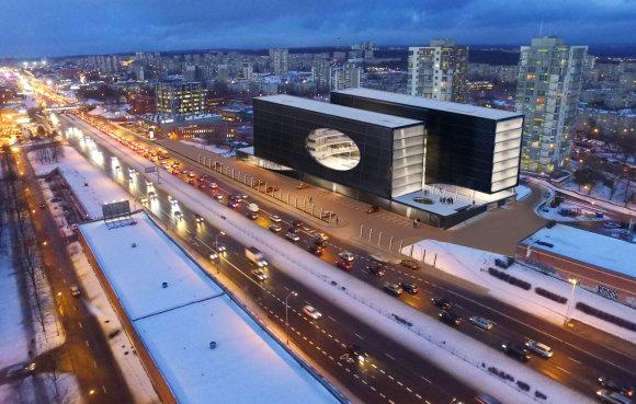 """""""Cloud architektai"""" vizualizacija/""""Panevėžio statybos tresto"""" įmonė Šeškinėje statys verslo centrą"""