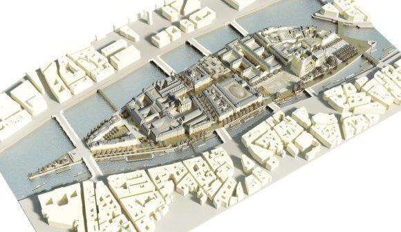 """""""Dominique Perrault Architecture""""/ Parengta Sitė salos urbanistinė studija"""