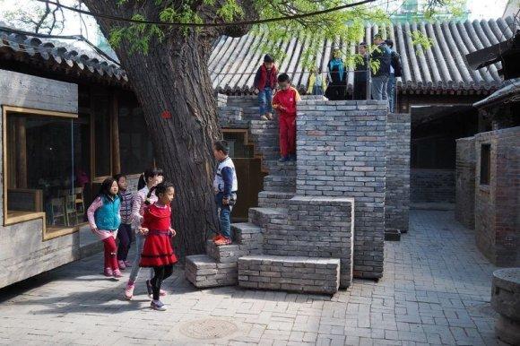 arch. ZAO/standardarchitecture/Pekino hutongų vaikų biblioteka ir meno centras