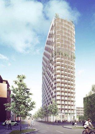 """""""C.F. Møller""""/Vesterose bus statomas 22 aukštų daugiabutis"""