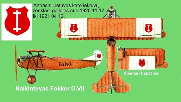 Lietuvos aviacijos muziejaus nuotr./Antroji Lietuvos kariuomenės lėktuvų ženklinimo versija