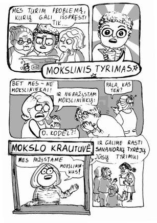Miglės Anušauskaitės iliustr./Mokslo krautuvės idėja