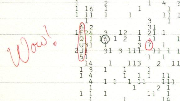 """Ohajo valstijos universiteto nuotr./""""Wow!"""" signalas"""