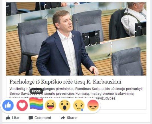 Facebook nuotr./Pasididžiavimo emocijos išreiškimas