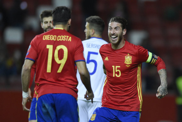 """""""Scanpix"""" nuotr./Pasaulio čempionato atrankos rungtynės: Ispanija – Izraelis"""