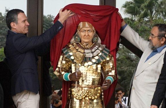 """AFP/""""Scanpix"""" nuotr./Peru atkurtas ikikolumbinės Amerikos valdovo veidas"""