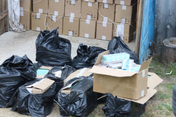 VSAT nuotr./Šalčininkų rajone pareigūnai aptiko 200 tūkst. eurų vertės kontrabandą