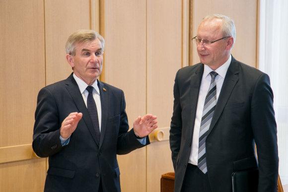 Žygimanto Gedvilos / 15min nuotr./Seimo Pirmininko susitikimas su universitetų rektoriais