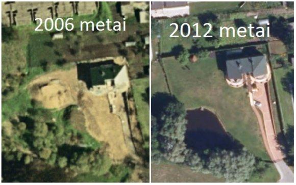 Tvenkinys valstybinėje žemėje greta R.Malinausko sklypo: 2006 ir 2012 metai