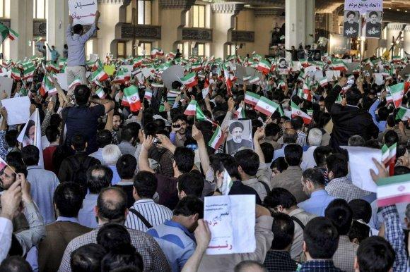 """Scanpix""/""SIPA"" nuotr./Mitingas Teherane"