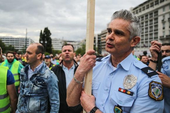 """""""Scanpix""""/""""Sipa USA"""" nuotr./Protestas Graikijoje"""