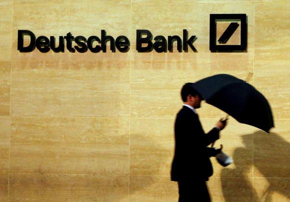 """""""Reuters""""/""""Scanpix"""" nuotr./""""Deutsche Bank"""" bankas Londone"""