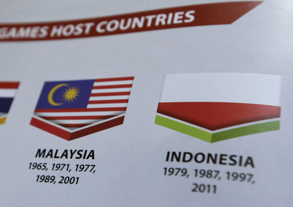 """Scanpix""/AP nuotr./Aukštyn kojomis apversta Indonezijos vėliava"