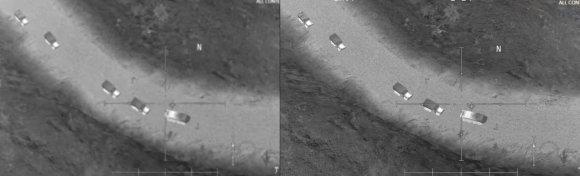Nuotrauka iš soc. tinklų/Rusijos gynybos ministerija JAV ir IS bendradarbiavimą įrodinėja nuotraukomis iš kompiuterinio žaidimo