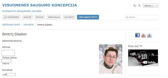 15min nuotr./D.Glazkov – Lietuvoje VSK koncepciją skelbiančio tinklalapio administratorius