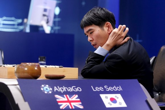 """""""Reuters""""/""""Scanpix"""" nuotr./""""AlphaGo"""" prieš Lee Se-dolį"""