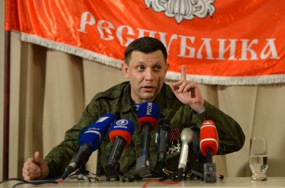 """""""Scanpix""""/""""RIA Novosti"""" nuotr./Vienas Donecko separatistų lyderių Aleksandras Zacharčenka"""