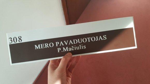 Povilo Mačiulio nuotr./Kauno miesto mero pavaduotojas Povilas Mačiulis atsisakė kabineto