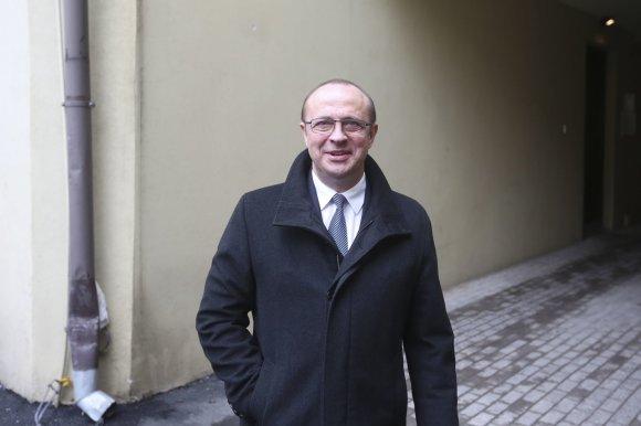 Irmanto Gelūno/15min.lt nuotr./Ričardas Malinauskas atvyko į (VTEK) posėdį