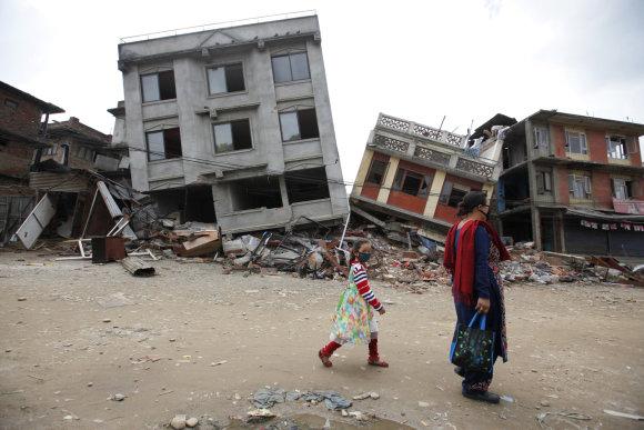 """""""Scanpix""""/AP nuotr./Nepalas po žemės drebėjimo"""