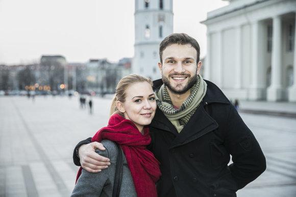 Viganto Ovadnevo/15min.lt nuotr./Monika Linkytė ir Vaidas Baumila