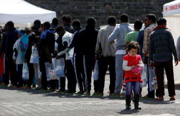 """Reuters""/""Scanpix"" nuotr./Migrantai Italijoje"