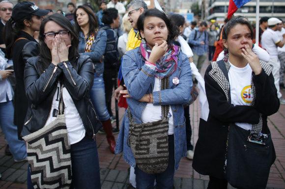"""""""Scanpix""""/AP nuotr./Dalį kolumbiečių ištiko šokas, sužinojus referendumo rezultatus"""