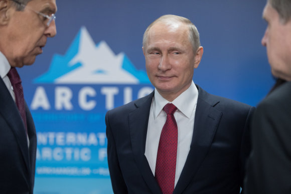 """""""Sputnik""""/""""Scanpix"""" nuotr./Vladimiras Putinas"""