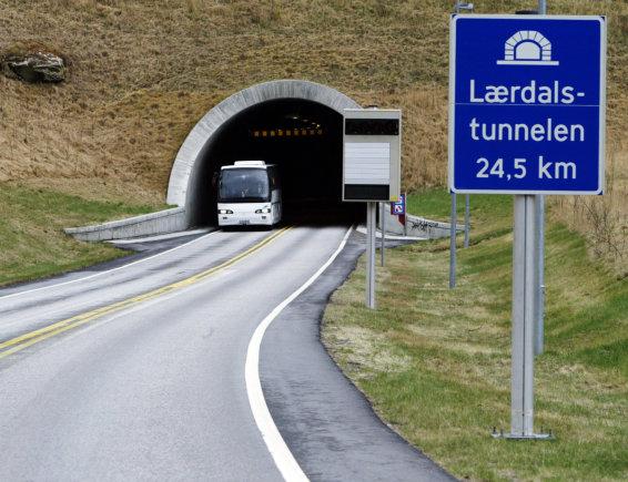 """Scanpix"" nuotr./Laerdalio tunelis Norvegijoje"