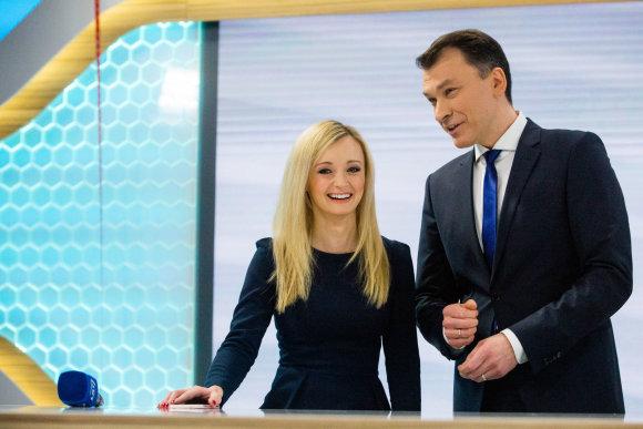 Vidmanto Balkūno / 15min nuotr./Ugnė Galadauskaitė ir Marijus Žiedas