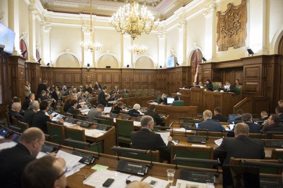 saeima.lv nuotr./Latvijos Seimas