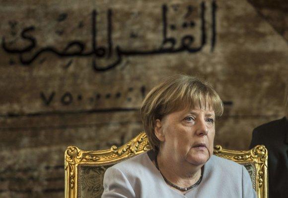 "AFP/""Scanpix"" nuotr./Vokietijos kanclerė Angela Merkel vieši Egipte"