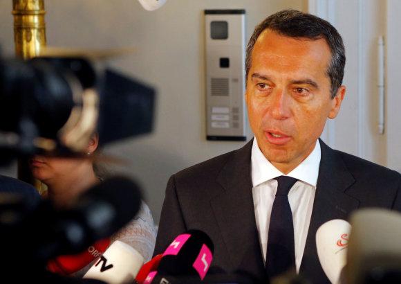 """Reuters""/""Scanpix"" nuotr./Austrijos kancleris Christianas Kernas"