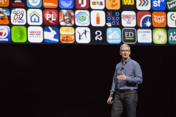 """Scanpix"" nuotr./""Apple"" WWDC konferencija San Fransiske, Timas Cookas"