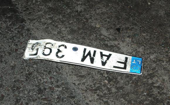 Andriaus Vaitkevičiaus / 15min nuotr./Automobilio numeriai