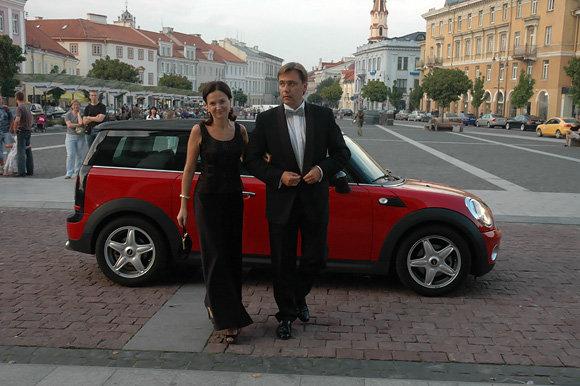 Andriaus Vaitkevičiaus/15min.lt nuotr./Edminas Bagdonas su žmona