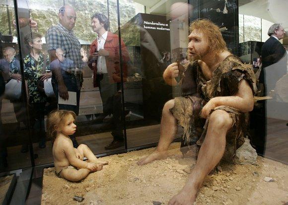 """AFP/""""Scanpix"""" nuotr./Neandertaliečiai."""