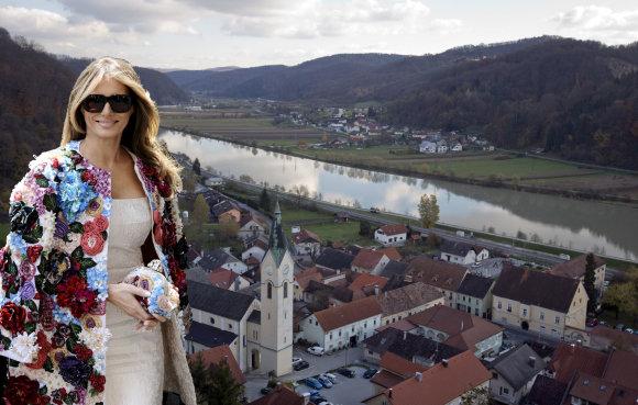 """""""Scanpix"""" nuotr./Melanios Trump gimtasis miestas Slovėnijoje"""