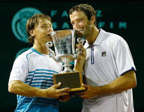 US Men's Clay Court Championship nuotr./Ričardas Berankis ir Teimurazas Gabašvilis