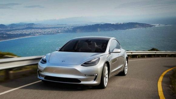 "Electrek iliustr./""Tesla Model 3"""