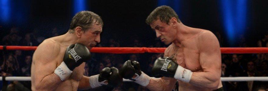 """Filme """"Didžioji kova"""" bokso veteranais tapę Robertas De Niro ir Sylvesteris Stallone galynėsis dėl stipriausiojo vardo"""