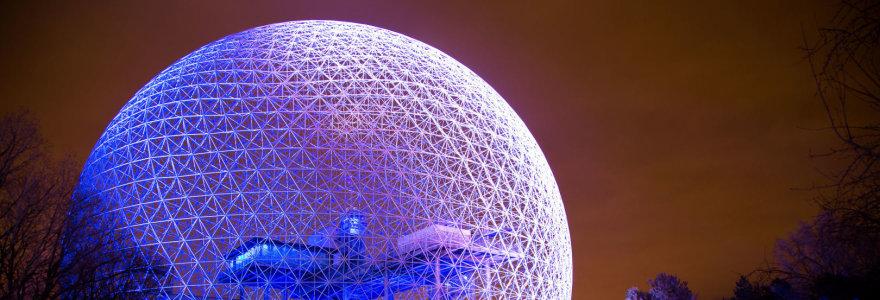 Geokupolas: unikali architektūrinė struktūra, pritaikoma tiek poilsiui, tiek kosmoso užkariavimui