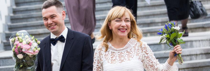 """Susituokė """"Labaiteatro"""" įkūrėjai – aktorė Agnė Sunklodaitė ir kompozitorius Deividas Gnedinas"""