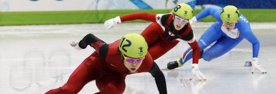 Kinijos čiuožėja trumpuoju taku apgynė olimpinės čempionės titulą